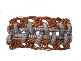Grey/Copper Fusion Bracelet