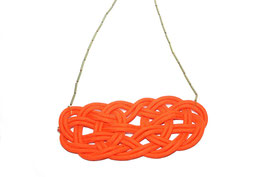 Burnt Orange Knotz Necklace