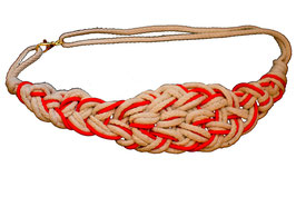 Burnt Orange/Natural Knotted Belt