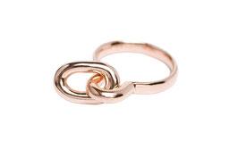 Minx high girl tab ring rosé item no. MXr04/rosé