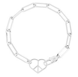 Love & Peace bracelet item no. LP01/silver