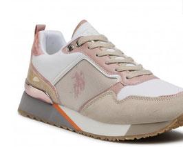 U.S. Polo Assn. - Sneaker low Rosa -Orange - Unifarben mit MEMORY SOHLE