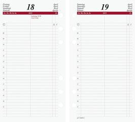 Timing 2 Kalendarium Tageskalender 1 Tag auf einer Seite 9,3x17,2cm - Rido Kalender-Einlage 2022