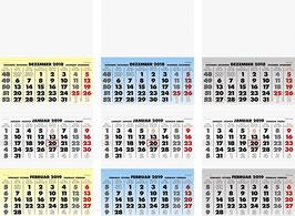 Modell 702 34x79cm - Brunnen Dreimonats-Kalender 2020