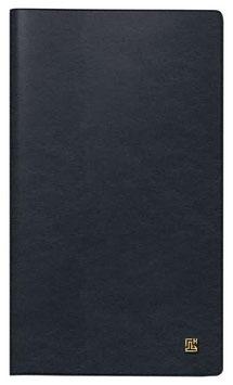 Modell 746 8,7x15,3cm Leder-Einband Schwarz Brieftaschen-Ausgabe - Brunnen Taschenkalender 2021