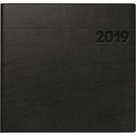 Quadratkalender Modell 766 21x20,5cmSchaumfolien-Einband Schwarz - Buchkalender 2020