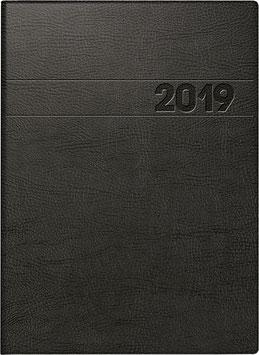 Modell 796 14,8x20,5cm Schaumfolien-Einband Schwarz - Brunnen Buchkalender 2021