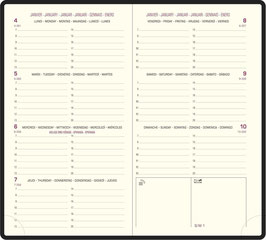 Eurotime 16 8,5x16cm Fall Braun - Exacompta Kalender 2022