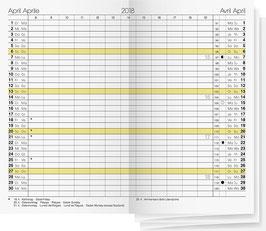 Gilet-Planer 7x11,8cm Kalender-Einlage - Rido Taschenkalender 2021