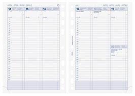 Wochenkalender 14,8x21cm Timer Business - Brunnen Kalender-Einlage 2022