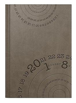 Mentor 14,5x20,6cm Kunstleder-Einband Compass Braun Modell 26026 - Rido Buchkalender 2022