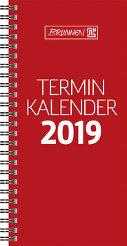 Modell 780 10x20,7cm Karton-Umschlag Glanzkaschiert Rot - Brunnen Tischkalender 2022