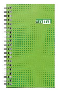 Taschenplaner int. 8,7x15,3cm Grafik-Einband Grün Modell 16907 - Rido Taschenkalender 2022