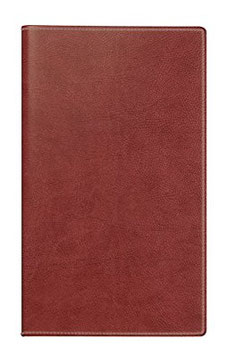 Miniplaner D15 8,7x15,3cm Kunstleder-Einband Prestige Rotbraun Modell 45424 - Rido Taschenkalender 2022