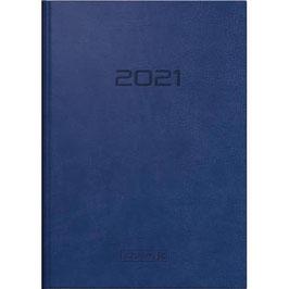 Modell 795 14,5x20,6cm Kunstleder-Einband Blau - Brunnen Buchkalender 2021