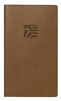 Taschenplaner int. 8,7x15,3cm Kunstleder-Einband Braun Modell 16903 - Rido Taschenkalender 2021