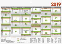 Tafelkalender A4 quer Modell 70143 - Brunnen Tischkalender 2020 (10 Stück)