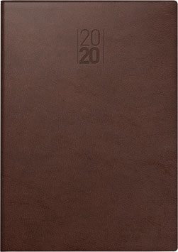 Modell 797 16,8x24cm Kunstleder-Einband Senegal Braun - Brunnen Buchkalender 2022