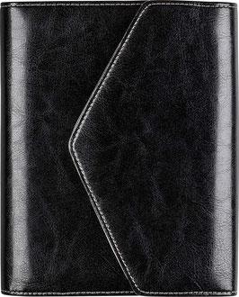 Timing 2 Kunstleder-Ringbuch mit Magnetverschluss Schwarz 9,3x17,2cm - Rido Zeitplansystem Timing 2