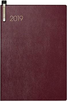Modell 723 7,6x11,2cm Soft-Einband Bordeaux - Brunnen Taschenkalender 2020
