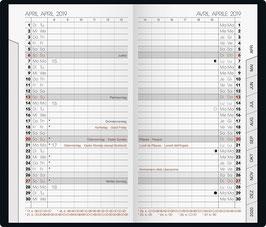 Modell 751 8,7x15,3cm Kalender-Einlage - Brunnen Taschenkalender 2020