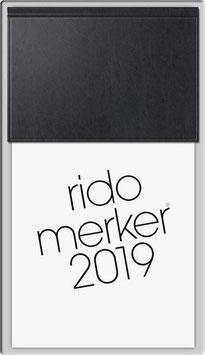 Rido merker Miradur-Einband Schwarz - Rido Tischkalender 2020
