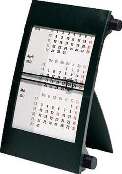 Dreimonats-Tischkalender 11x18,3cm Drehknopf Schwarz Modell 38000 - Rido Kalender 2020