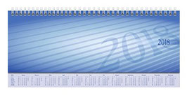 septant 30,5x10,5cm PP-Einband Blau Modell 36102 - Rido Querterminbuch 2020
