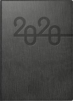 Mentor 14,5x20,6cm Kunstleder-Einband Schwarz Modell 26023 - Rido Buchkalender 2021