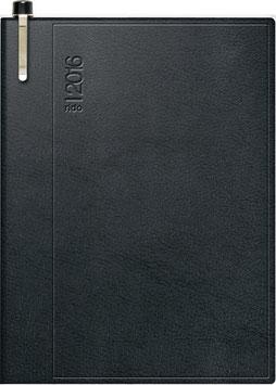 Industrie II 7,2x11,2cm Kunststoff-Einband Skivertex Schwarz mit Kugelschreiber Modell 16263 - Rido Taschenkalender 2020