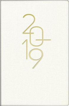Industrie I 7,2x11,2cm Kunstleder-Einband Weiß Modell 11033 - Rido Taschenkalender 2021