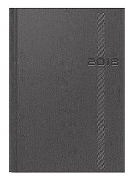 Chefplaner 14,5x20,6cm Soft Cover Kunstleder Denim Grau Modell 21812 - Rido Buchkalender 2021