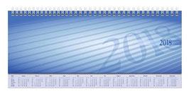 Sequenz 29,7x10,5cm Karton-Einband Blau Modell 36511 - Rido Querterminbuch 2021