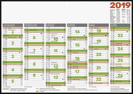 Tafelkalender A4 quer Modell 70142 - Brunnen Tischkalender 2020 (10 Stück)