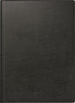 Modell 788 Agenda 24 21x29cm Schaumfolien-Einband Schwarz - Brunnen Dienstleistungskalender