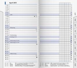 Modell 753 8,7x15,3cm Kalender-Einlage - Brunnen Taschenkalender 2021