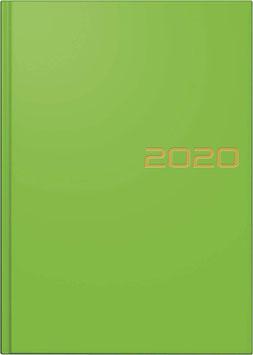 Modell 796 14,8x20,5cm Balacron-Einband Grün - Brunnen Buchkalender 2021