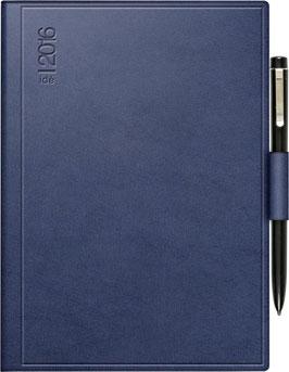 Technik II 10x14cm Kunststoff-Einband Skivertex Blau Modell 18213 mit Kugelschreiber - Rido Taschenkalender 2021
