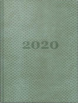 Technik I 10x14cm Kunstleder-Einband Snake Lindgrün Modell 18111 - Rido Taschenkalender 2021