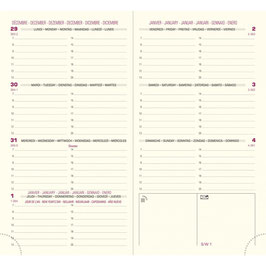 Eurotime 16 8,5x16cm Kalender-Einlage - Exacompta Kalender 2020