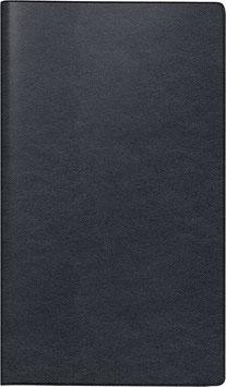 Modell 746 8,7x15,3cm Leder-Einband Schwarz - Brunnen Taschenkalender 2021