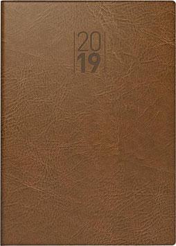 Modell 765 14,3x20,2cm Kunstleder-Einband Senegal Braun - Brunnen Buchkalender 2020