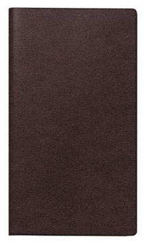 Modell 753 8,7x15,3cm Kunstleder-Einband Dunkelbraun - Brunnen Taschenkalender 2021