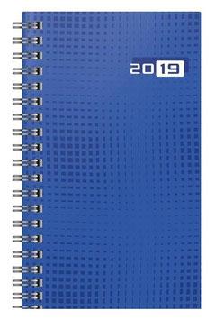 Taschenplaner int. 8,7x15,3cm Grafik-Einband Blau Modell 16907 - Rido Taschenkalender 2021