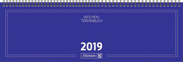 Modell 774 32,6x10,2cm Karton-Einband - Brunnen Querterminkalender 2020