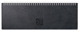 ac 30,7x10,5cm Kunstleder-Einband West Schwarz Modell 31702 - Rido Querterminbuch 2021