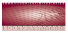 Sequenz 29,7x10,5cm Karton-Einband Bordeaux Modell 36511 - Rido Querterminbuch 2021