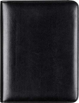 Timing 1 Leder-Ringbuch mit Reißverschluss Schwarz A5 14,8x21cm - Rido Zeitplansystem Timing 1