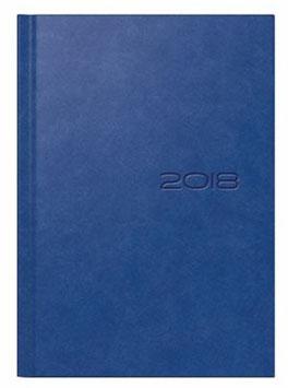 Mentor 14,5x20,6cm Kunstleder-Einband Manhattan Blau Modell 26025 - Rido Buchkalender 2020