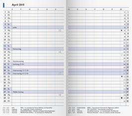 Modell 750 8,7x15,3cm Kalender-Einlage - Brunnen Taschenkalender 2020